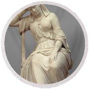 Cleopatra,  Marble Round Beach Towel