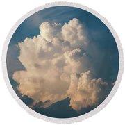 Cloud On Sky Round Beach Towel