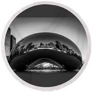 Cloudgate4 Round Beach Towel