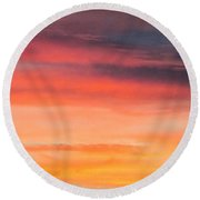 Colorful Clouds In The Sky 1 Round Beach Towel