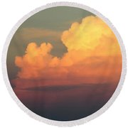 Clouds Over Pleasure Pier Round Beach Towel