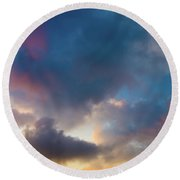 Clouds Spotted With Color Round Beach Towel