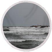 Cloudy Sea Round Beach Towel