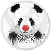 Clown Panda Round Beach Towel