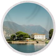Coast Of Como Round Beach Towel