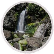 Coastal Falls Round Beach Towel by Margaret Pitcher