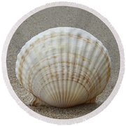Cockle Shell 2015c Round Beach Towel