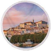 Coimbra's Skyline Round Beach Towel