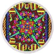 Colin's Mandala Round Beach Towel