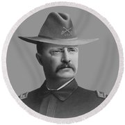Colonel Teddy Roosevelt - Rough Riders Round Beach Towel