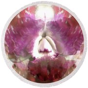 Color Hybrid Orchid Round Beach Towel