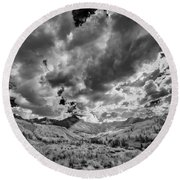 Colorado Sun Rays II Round Beach Towel