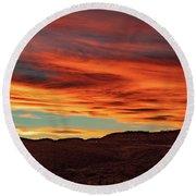 Colorado Sunset Round Beach Towel