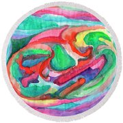 Colorful Abstraction Round Beach Towel