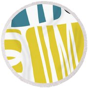 Colorful Bento 1- Art By Linda Woods Round Beach Towel