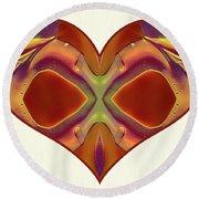 Colorful Heart - Naked Truth - Omaste Witkowski Round Beach Towel by Omaste Witkowski