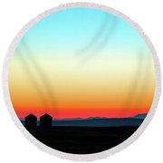 Colorful Sunrise Round Beach Towel