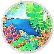 Colorful Tropics 16 Round Beach Towel