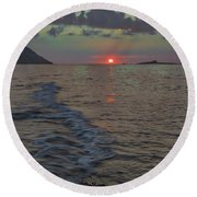 Colors Of The Sunrise Round Beach Towel