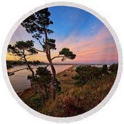 Columbia River Sunrise Round Beach Towel