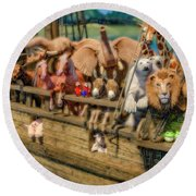 Come Aboard There's Plenty Of Room Ark Round Beach Towel