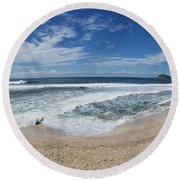 Coming Ashore Round Beach Towel