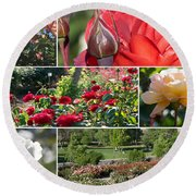 Coming Up Roses Round Beach Towel