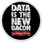 Computer Big Data Bacon Geek Pun Apparel Round Beach Towel