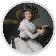 Comtesse De La Chatre Later Marquise De Jaucourt  Round Beach Towel
