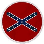 Confederate Stars And Bars T-shirt Round Beach Towel