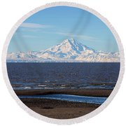 Cook Inlet And The Alaska Range From Ninilchik Round Beach Towel