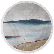Cool Lake Round Beach Towel