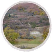 Copper Hills Autumn Round Beach Towel