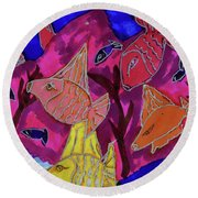 Coral Fish Round Beach Towel