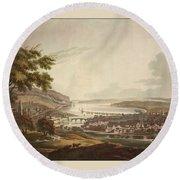 Cork Ireland 1799 Round Beach Towel