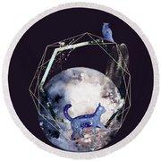 Cosmic Portal Round Beach Towel by Bee-Bee Deigner