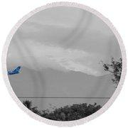 Costa Rica Airport Airplane Round Beach Towel