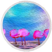 Cotton Candy Trees Round Beach Towel