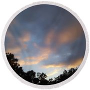 Cotton Sky Round Beach Towel