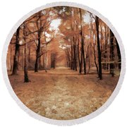 Covered Path Round Beach Towel