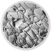 Cracked Earth Abstract Round Beach Towel