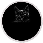 Crazy Cat Lady Gifts Cat Gifts For Women Drawing Round Beach Towel