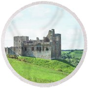 Crighton Castle In Summer Round Beach Towel