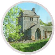Crighton Historic Church Round Beach Towel