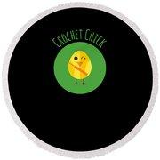 Crochet Chick Round Beach Towel
