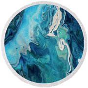 Cross Currents Round Beach Towel
