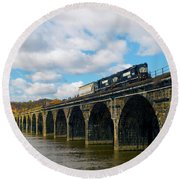 Crossing The Rockville Round Beach Towel