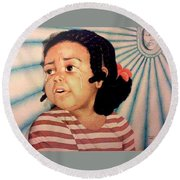 Cry Baby Round Beach Towel