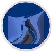Currents Round Beach Towel