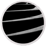 Curves Of Light And Shadow Round Beach Towel